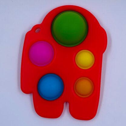 Among Us Simple Dimple rød Fidget Toy palle.dk