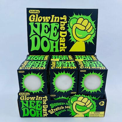 Nee Doh selvlysende klemmebold stressbold Fidget Toy palle.dk