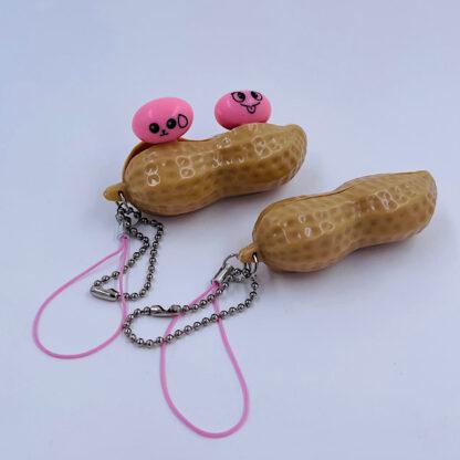 Pea Pop Peanut sur sød nøglering Fidget Toy palle.dk